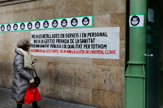 Hospital Clinic contra la gestión privada
